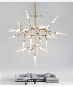 Contemporain lustre moderne simple restaurant design atmosphère lustre salon nordique créatif salle de modèle personnalité lampe d'art