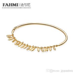 FAHMI 100% 925 BRILLO plata esterlina 567715CZ FLOTANTE GRANOS El brazalete de lujo de la joyería exquisita regalo de las mujeres con Encanto original 2018
