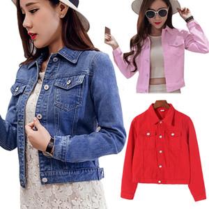 Ceket Kadınlar Tasarımcı Ceket Sonbahar Düzenli Kadınlar Denim Kısa Ceket Vintage Coat Bayan Jean Mavi Uzun Kollu Moda Ceketler Dış Giyim