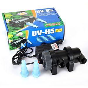 Jebo UV Halterizer Lamp Aquarium Light Ultraviolet Filter Clarifer Water Clearer 60 ~ 180Gallons Fish tank 5/7/9/11/13/18/24 / 36W