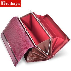 Dicihaya Trend Wallet Portafoglio donna femminile Portafoglio lungo Portafoglio portamonete donna borsa di alta qualità genuino cerniera portafogli Y190701