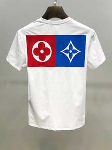 T-Shirt estiva con stampa geometrica di etichette firmate da uomo T-Shirt estiva Hip-Hop-manica lunga da uomo e donna con la stessa magliett
