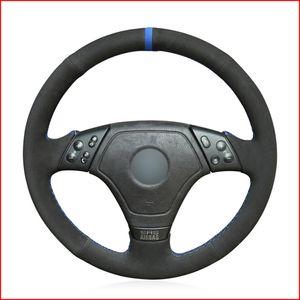 Black Suede Hand Sew Comfortable Soft Steering Wheel Cover for BMW E36 1996-2000 E46 1998-2000 Z3 E36 7 1995-1999