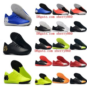 Chaussures de football en gazon intérieur 2019 chaussures VAPORX 12CLUB TF IC CR7 neymar Ronaldo chaussures de football pour hommes basses crampons de football Mercurial Superfly orange