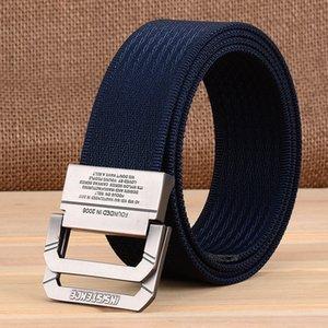 by Dhl 200pcs Nylon Canvas Belt Men Army Tactical Belts Selling Man Outdoor Sport Double Buckle Weave Cowboy Pants Belt