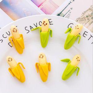 Cute banana style eraster Mini novelty Korean creative stationery 2pcs pack School Supplies for student gift