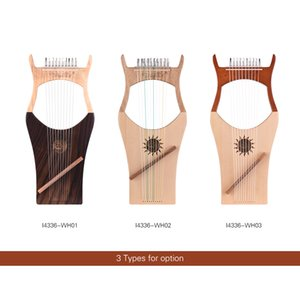 10-String Wooden Lyre Harp Nylon Strings Spruce Topboard Beech Wood Backboard String Instrument with Carry Bag
