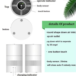 Air Purifier Ozone Generator Disinfect Deodorize Formaldehyde Air sterilizer Air Cleaner with rechargeable Battery for Car room