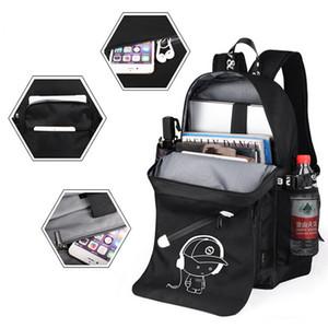 Designer-Fashion USB Charge Zaino luminoso da uomo borsa da viaggio borsa da viaggio Zaino per computer Borsa a tracolla grande capacità antifurto