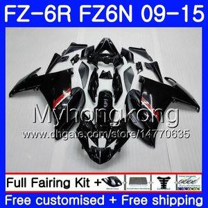 Corpo per YAMAHA FZ6N FZ6 R FZ 6N FZ6R 09 10 11 12 13 14 15 239HM.1 FZ-6R FZ 6R nero lucido HOT 2009 2010 2011 2012 2013 2014 2015 Carene