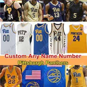 Pittsburgh Panthers Basket Baskey Jersey NCAA College Champagnie Trey McGowens Murphy Johnson Eric Hamilton Brown Au'diese Toney Adams Jownson
