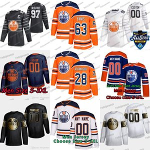 28 Andreas Athanasiou Edmonton Oilers Tyler Ennis Connor McDavid leon draisaitl Cassiano Oscar Klefbom Ethan Orso Mike Green Jersey