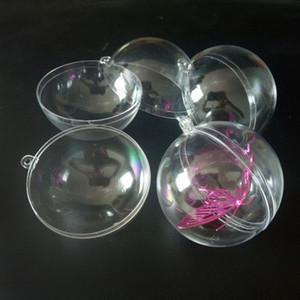 10 paia 3/4/5 / 6cm Decorazioni natalizie in plastica trasparente trasparente Sfera trasparente Bagattella Ornamento Regalo Regalo Decorazione per scatola