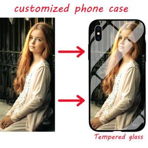 DIY vidro TPU + temperado Personalizado-se a caixa do telefone foto para iphone X XR XS Max 11 Pro 6 6s 7 8 mais Samsung Galaxy S8 s9 s10 mais nota 8 9