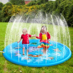 170cmOutdoor Lawn Beach Sea Animal Inflatable Water Spray Kids Sprinkler Play Pad Mat party swimming pool or beach high quality PVC