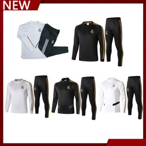 2019 2020 sportswear Real Madrid masculina 2021, semi-longo mangas sportswear futebol terno paletó de futebol de formação