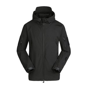 Coupe-vent Veste homme hiver chaud manteau à capuchon extérieur Sport Veste de ski Manteau Vestes d'hiver d'homme Courir Escalade