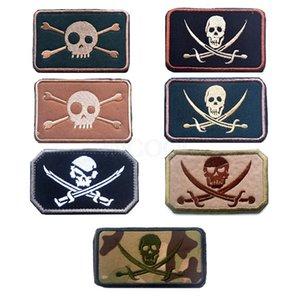 100 шт уплотнения пиратский череп вышивка патч военный мораль патч тактическая эмблема значки аппликации вышитые патчи Оптовая торговля