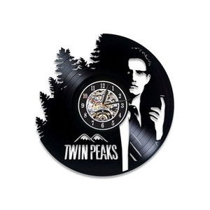 Kyle MacLachlan Reloj de pared Vintage Twin Peaks Serial Vinyl Record Reloj de pared Twin Peaks Art Handmade Room Art Twin Peaks Regalo para fan