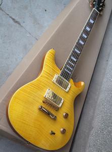 Yeni Varış Standart Tak Matsumoto Sarı Elektro Gitar Alev bej Kaplama ile, özelleştirilmiş hizmetler sunan