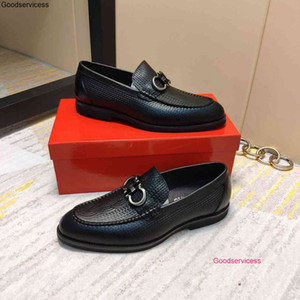 True leather business shoes best Qaulitys leisure flat sole metal decoration comfortable fashion wan1