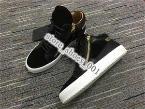 2020 xshfbcl Fashion Designer Sneaker Uomo Donna Arena pattini casuali genuini Zipper Race Scarpe Runner All'aperto formatori grande taglia 36-45