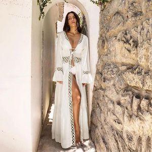 Plage broderie couvrante dentelle sexy maillot de bain Bikini Cover Ups Cardigan 2020 Nouveau été Bandage Maillots De Plage Beach Wear # 4Z