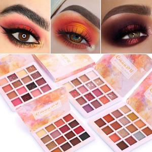 CmaaDu Chegada Nova Charming Sombra Glitter 16 cores Paleta de Sombra Make up sombra Shimmer pigmentado pó metálico Matte Eye