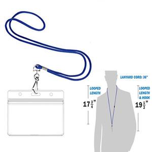 Corda com Horizontal Titular ID (Royal Blue 100 Pack) Inclui inserções de papel