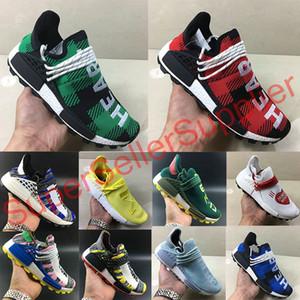 Adidas NMD Human Race 1.0 2.0 Hu Chanel Colette Sneaker ayakkabı kapalı 2019 insan ırkı R1 R2 Nöromusküler Pharrell Williams erkekler kadınlar Spor tasarımcı Ayakkabı