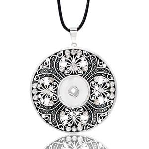 Hot Ginger Necklace di cristallo fiore intercambiabile 076 Fit 12mm con bottone a pressione gioielli ciondolo collana per le donne regalo