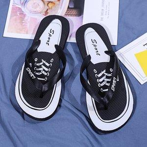 PADEGAO 2020 лето Граффити печати Тапочки Мужская обувь Вьетнамки Slipers Male Hip Hop Street Пляж Slipers Повседневный флип-флоп