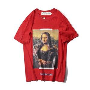 European and American tide ow bottoming shirt 2019 summer tide brand Mona Lisa arrow men and women short-sleeved T-shirt tide