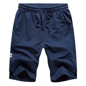 BROWON 2019 Pantalones cortos de verano Hombres Pantalones cortos casuales de algodón Color sólido Cómodo Tamaño de la UE Fitness Hombres Culturismo Homme