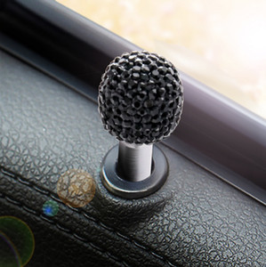 2 조각 / SET 범용 자동차 도어 잠금 보호 커버 리프팅 볼트 다이아몬드 알루미늄 합금 자동차 인테리어 수정 액세서리