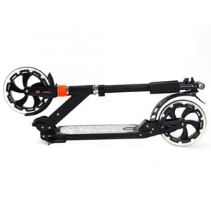 Folding Scooter Two Wheels Kickboard Foot Scooters Height Adjustable Shockproof Adult Kid Aluminum Alloy Kick Scooters