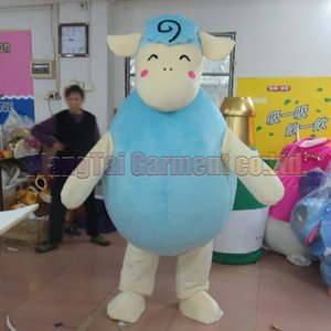 High quality Blue Sheep Mascot Costume Carnival branch Parade Quality Clowns Halloween party activity Fancy Outfit Free Shipping