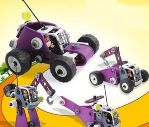 Новая 2019 детской головоломка 4 в 1 мягкий пластиковых поделок собраны строительные блоки гайки инженерных машин творческих игрушках
