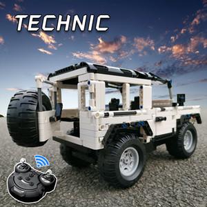 2019 LegoED Technic Serisi 2.4G Uzaktan RC Araba Moc Yapı Taşları Defender SUV Modeli Tuğla DIY Off-Road Kamyon Oyuncak İçin Çocuk CJ191226