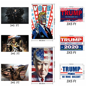 Fashion Trump 2020 Flag President Election Keep Make America Great Again Flags 3x5 FT Support Banner Home Decor TTA1573