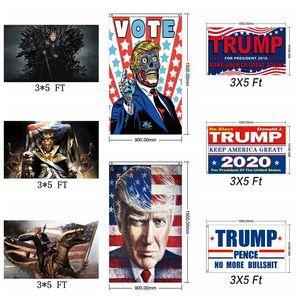 Moda Trump 2020 Bandera Presidente Elección Keep Make America Great Again Banderas 3x5 FT Support Banner Home Decor TTA1573