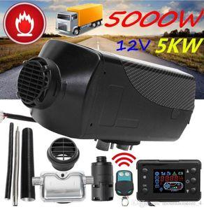 Réchauffeur de stationnement d'appareil de chauffage d'air de chauffage de voiture 5KW 12V de voiture avec le moniteur à télécommande d'affichage à cristaux liquides pour la caravane, la caravane de camping-car, camions, bateaux