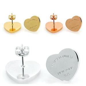 High-End-Modedesigner Frauen goldene Ohrringe hohe Schmuck Liebe Marke Edelstahl klassische einfacher Charme Schmuck Großhandel