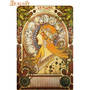 New Alphonse Mucha Poster Cloth Silk Poster Home Decoration Art Fabric Print 30X45cm, 40X60cm.50X75cm, 60X90cm