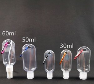 50ml Plastic Empty Hand Wash Sanitizer Spray Bottles Carabiner Lotion keychain