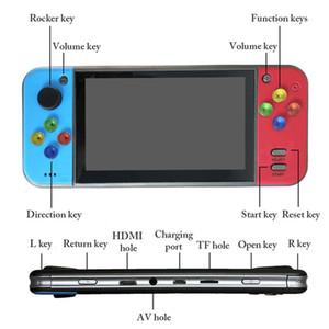 powkiddy X7의 5.0inch 레트로 핸드 헬드 게임 콘솔 비디오 게임 플레이어 MP4의 MP5 재생 8G 메모리 게임 콘솔 게임 TF 확장 HDMI TV 아웃