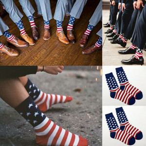 Мода американский флаг мужской хлопок StarsStripes США носок старая Слава повседневная