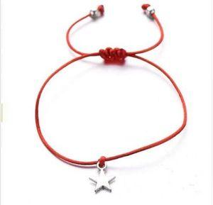 Livraison gratuite 50pcs / lot étoiles Charms Bracelet de souhaits pour les amateurs de cordes Lucky Red Bracelets HOT réglable