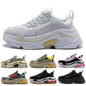 Venda quente Triple S cestas Homens Mulheres Preto Branco Novo sapatos mens formadores s triplos sapatilhas ocasionais sapato pai 36-45