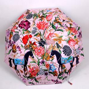 العلامة التجارية المظلات التلقائي بالكامل مظلة للطي هدية مربع التعبئة والتغليف السيدات صامد للريح في الهواء الطلق فوق البنفسجية إثبات مظلة المطر